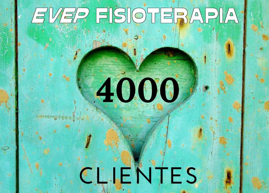 EVEP FISIOTERAPIA- Llegamos a los 4000 clientes.