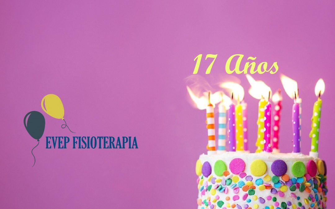 EVEP FISIOTERAPIA- Cumplimos 17 años